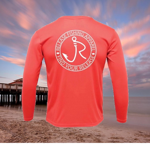 Release Circle Bright Coral Performance Long Sleeve SPF 50