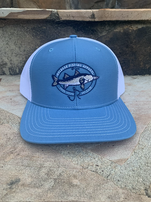 Snook Release Hat Blue/White