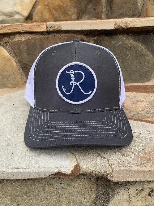 Fancy R Logo Hat Gray/White