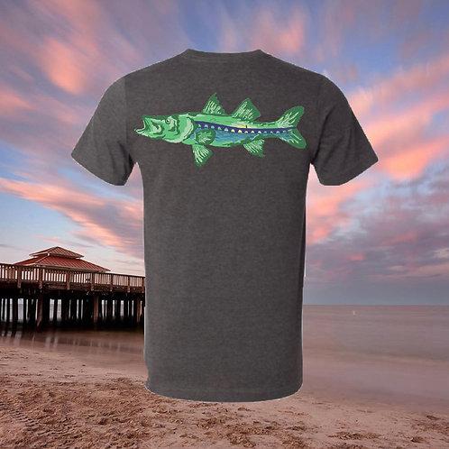 Snook Bridge Dark Gray T-shirt