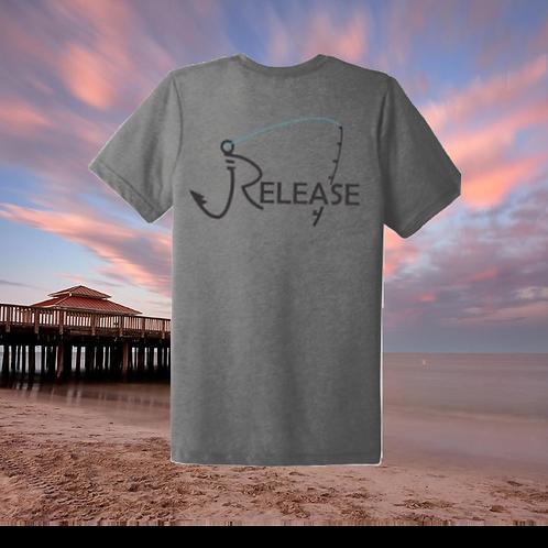 Release Rod Light Gray Polyester Blend T-shirt
