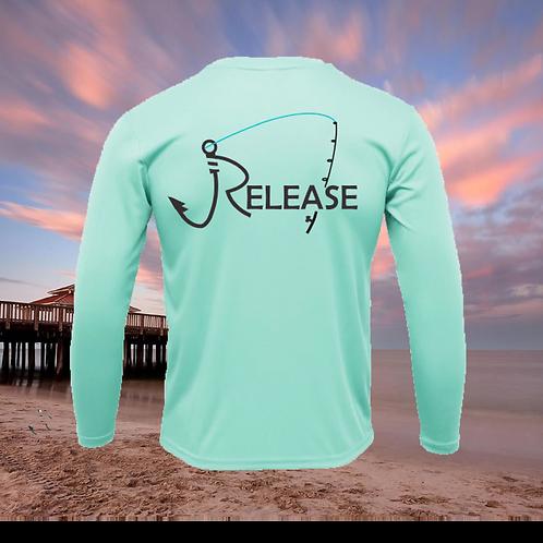 Release Rod Seafoam Green Performance Long Sleeve  SPF 50