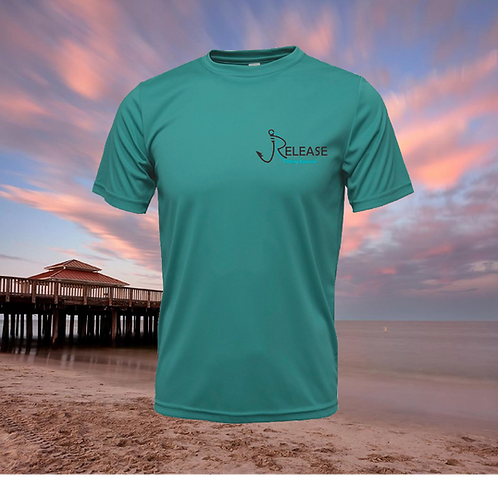 Find Your Release Teal Blue Performance Short Sleeve  SPF 50