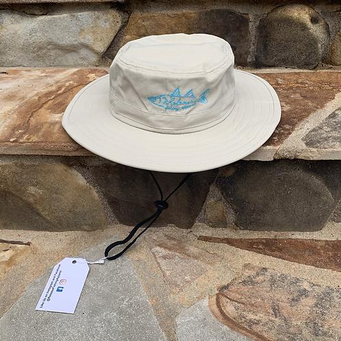 Hand Drawn Snook Wide-Brim Hat