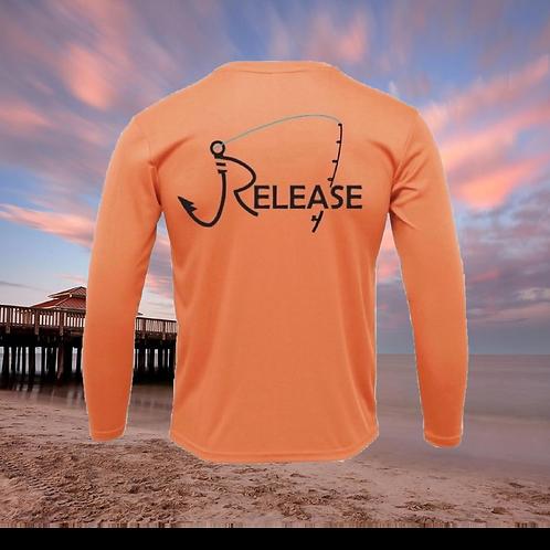 Release Rod Peach Performance Long Sleeve  SPF 50