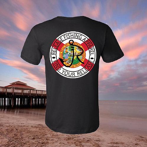Florida Release Circle Black T-shirt