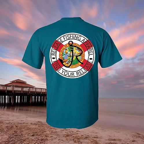 Florida Release Circle Teal T-shirt