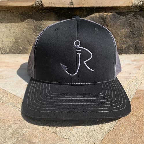R logo Snapback Black/Gray