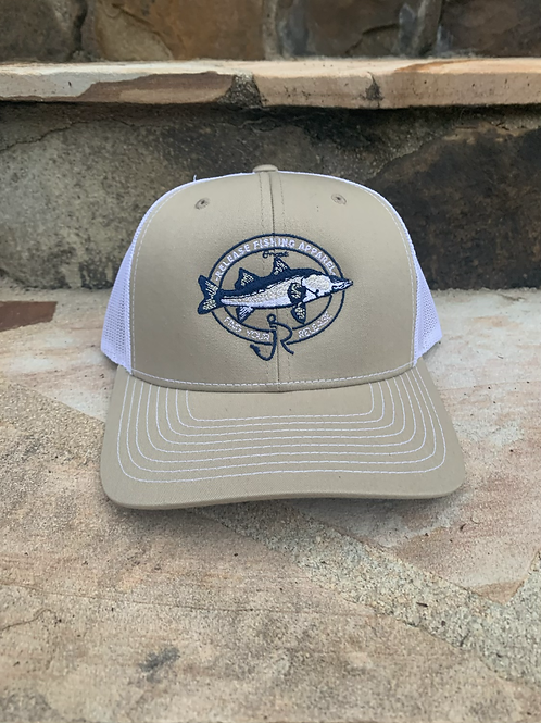 Snook Release Hat Tan/White