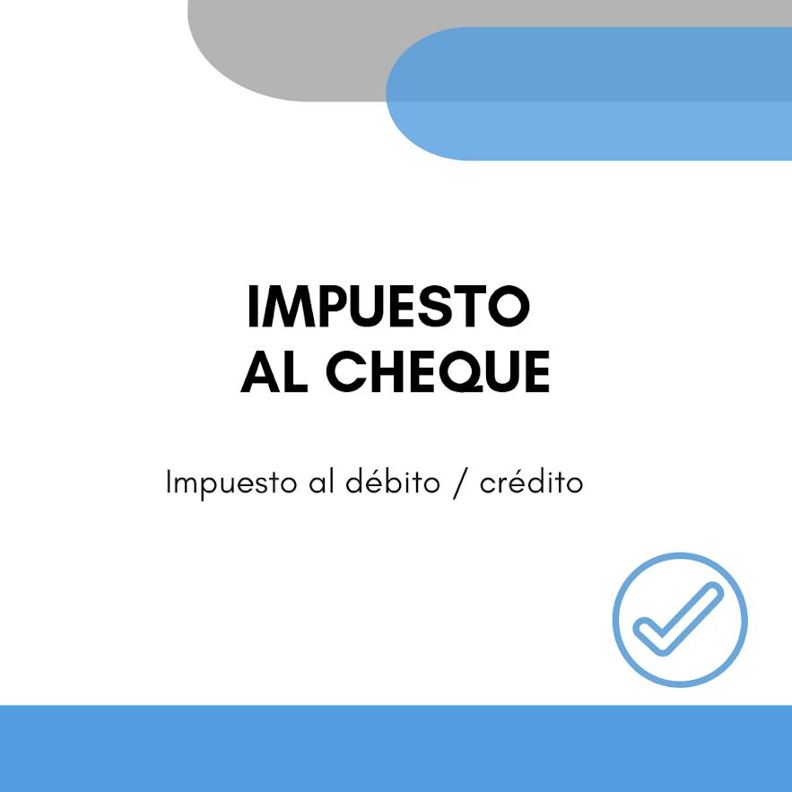 Impuesto al cheque