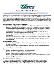 Telehealth Consent