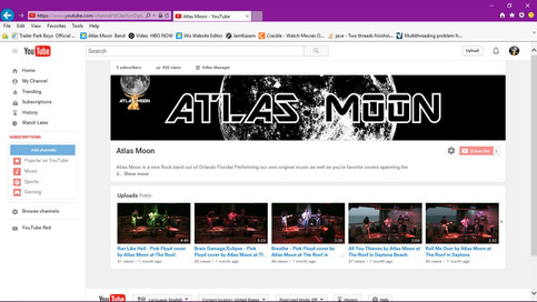 Atlas Moon creates Official YouTube Channel!