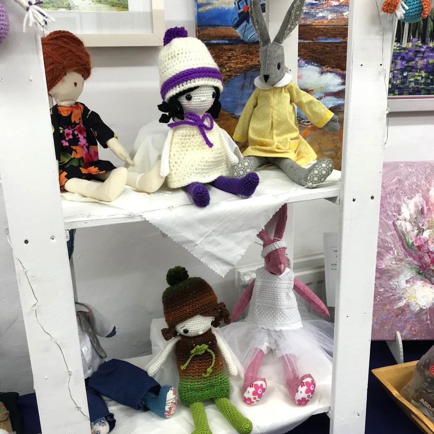 dolls and animals by Shona Paterson