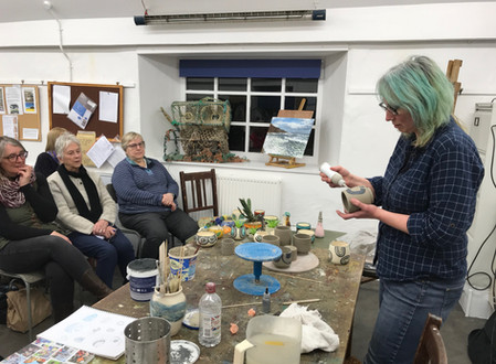 Busy times at Kirkcaldy Art Club