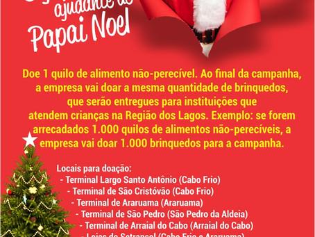 Grupo Salineira lança campanha de arrecadação de alimentos Seja Um Ajudante de Papai Noel