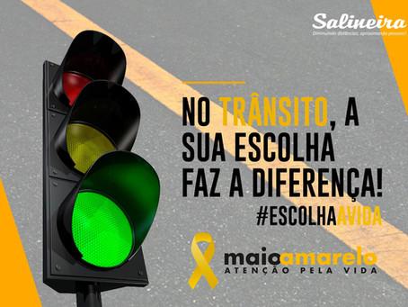 Maio Amarelo: A segurança no trânsito é nossa responsabilidade