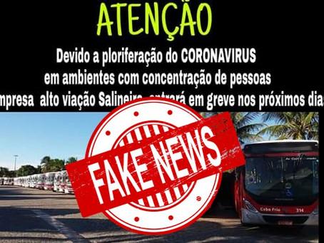 Fake News - Salineira NÃO entrará em greve