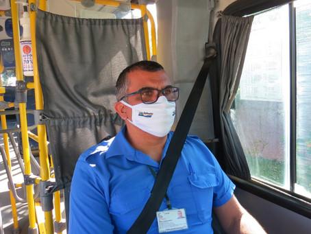 Salineira disponibiliza álcool em gel em todos os ônibus da empresa