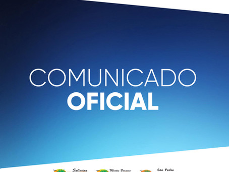 COMUNICADO OFICIAL - GRUPO SALINEIRA