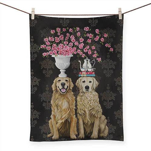 Golden Couple - 100 % Cotton Tea Towel