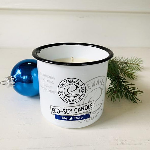 Sleigh Ride White Water Candles -
