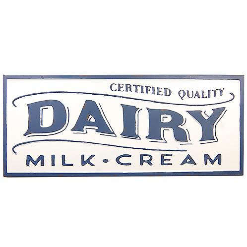 Embossed Metal Sign -Dairy Milk Cream