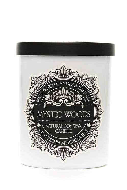 Mystic Woods- Wick Witch Natural Soy Wax Candle