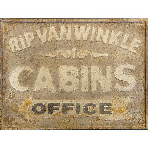 Vintage Reproduction Metal Sign - Rip Van Winkle Cabins