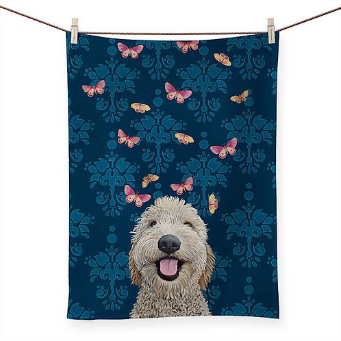 Happy Dog - 100 % Cotton Tea Towel