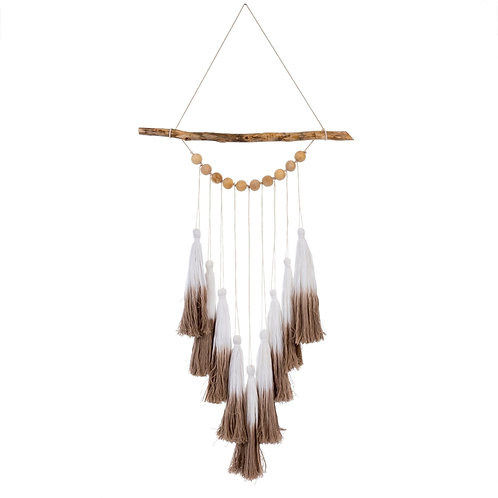 Ombre Tassel Wall Hanging - Taupe
