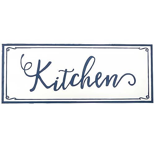 Embossed Metal Sign - Kitchen