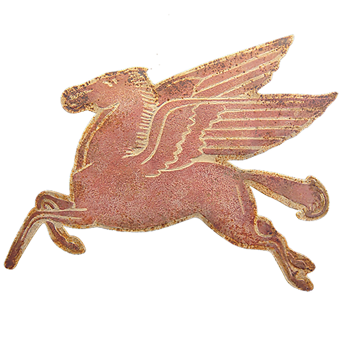 Vintage Reproduction Metal Sign - Flying Horse