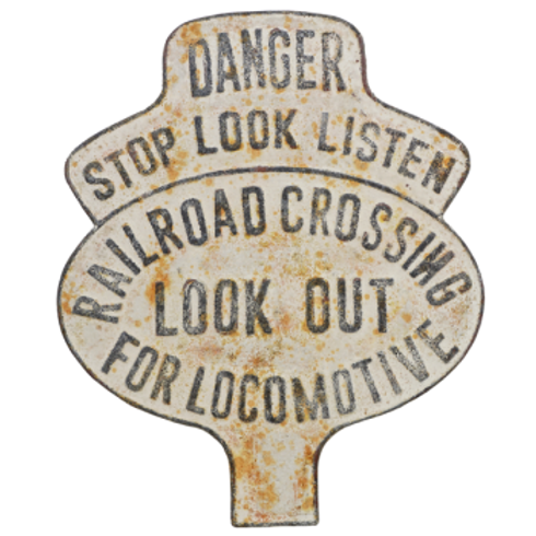 Vintage Reproduction Metal Sign -Railroad