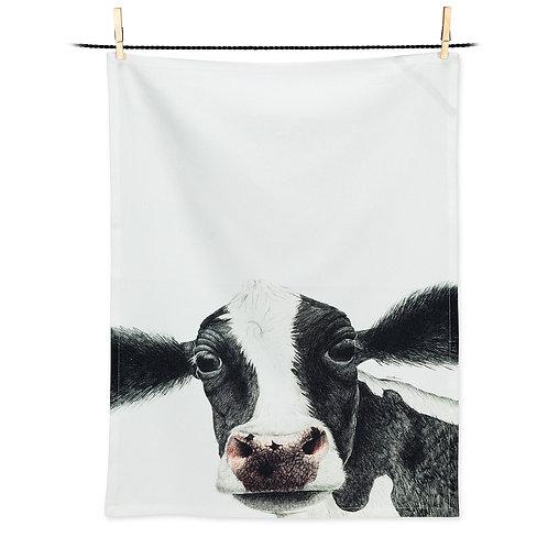 Rosa Cow - 100 % Cotton Tea Towel