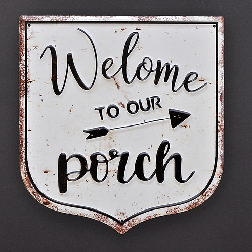 Welcome to the Porch 3D Metal Sign