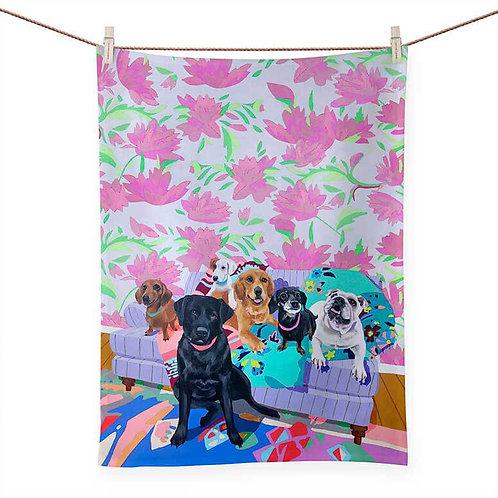 Dog Tales - 100 % Cotton Tea Towel