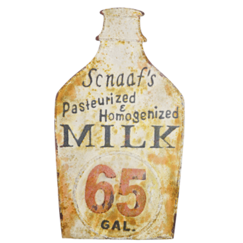 Vintage Reproduction Metal Sign - Milk Sign