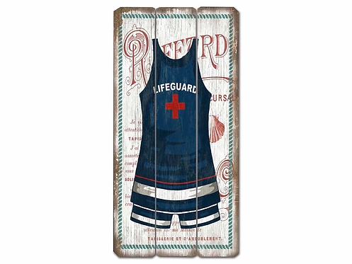 Lifeguard - Swimsuit Vintage Wooden Sign