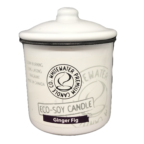 Ginger Fig White Water Candles -