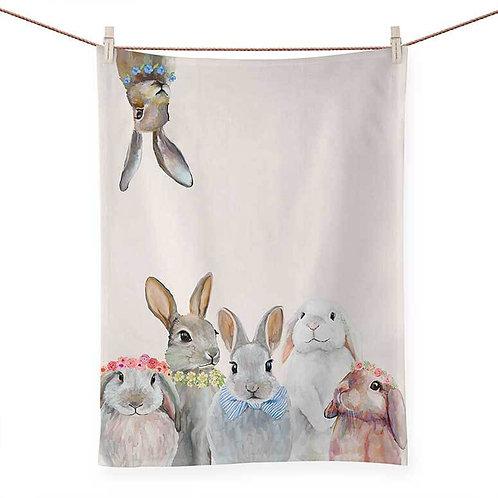 Bunny Bunch - 100 % Cotton Tea Towel