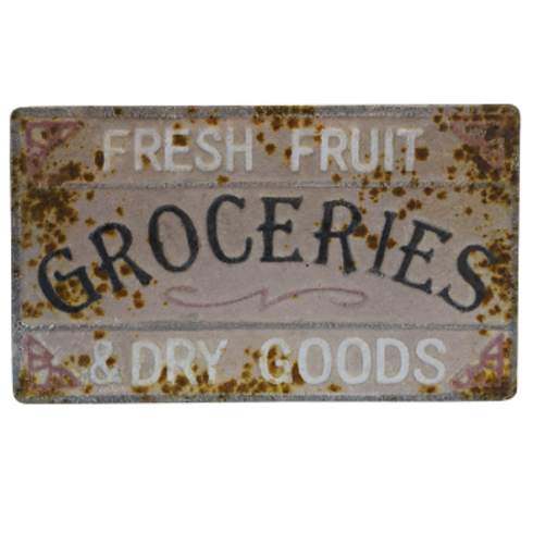 Vintage Reproduction Metal Sign -Groceries