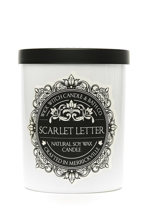 Scarlet Letter - Wick Witch Natural Soy Wax Candle