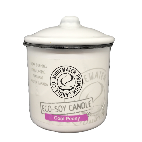 Cool Peony White Water Candles -