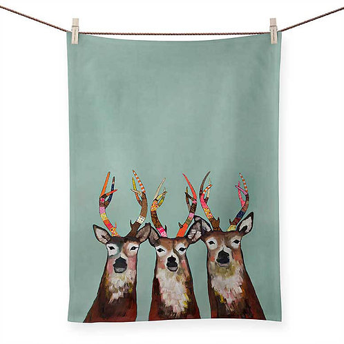 Designer Deer - 100 % Cotton Tea Towel