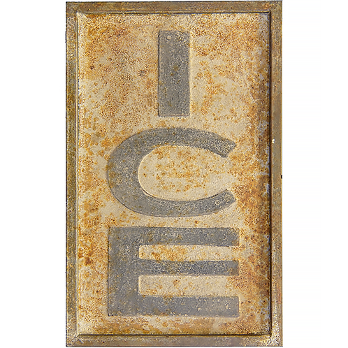Vintage Reproduction Metal Sign - ICE
