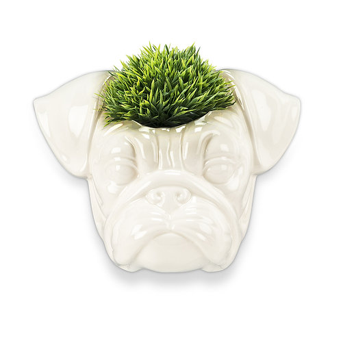 Wall Head Planter - Pug