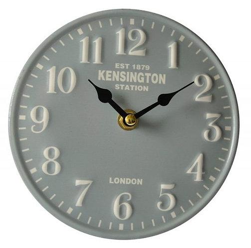 Metal Table Clock - Kensington Station - Blue