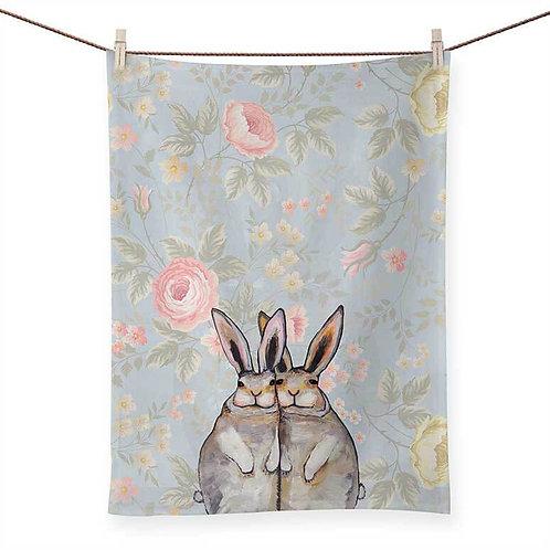 Bunny Friends - 100 % Cotton Tea Towel
