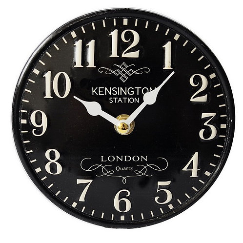 Metal Table Clock - Kensington Station