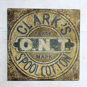 Vintage Reproduction Metal Sign - Clark's Spool Cotton